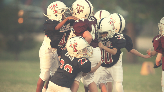 youth tackle football son