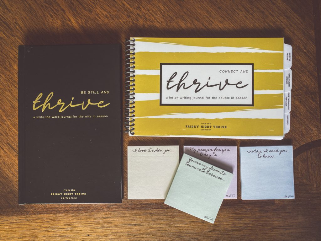 thrive marriage journals coaches wives