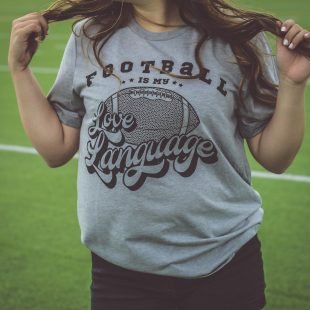 football is my love language game day apparel tshirt