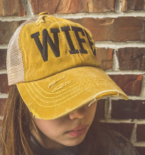 mustard vintage cap CC hat womens elastic ponytail hat coach's wife