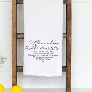 tea towels snarky coach's wife kitchen funny