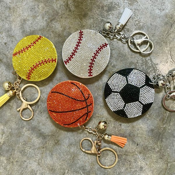sports bling keychains